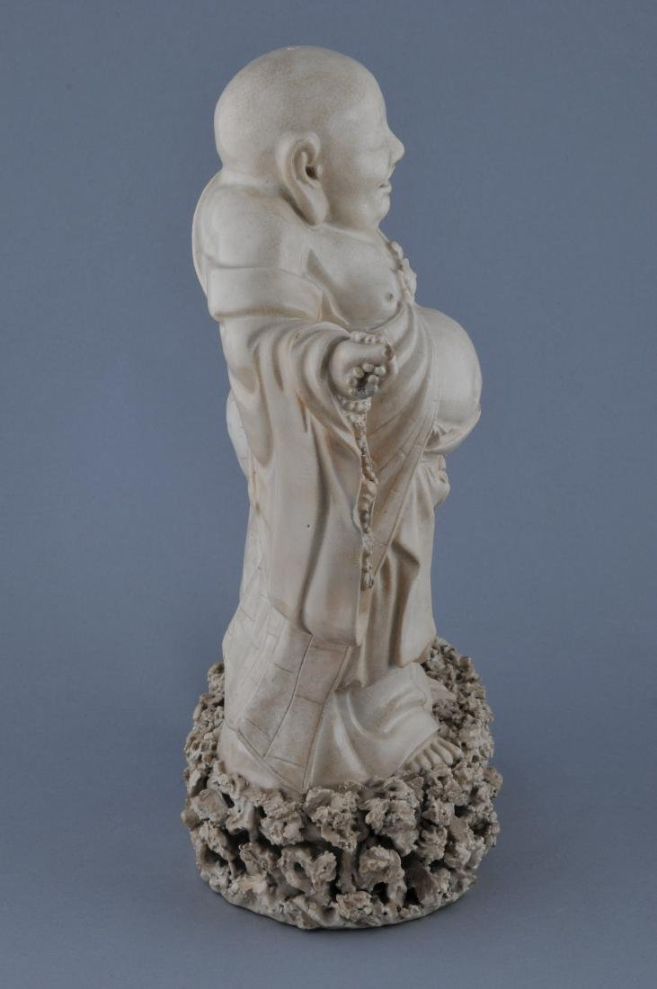 Two pottery figures. China. 19th century. Ivory white - 6
