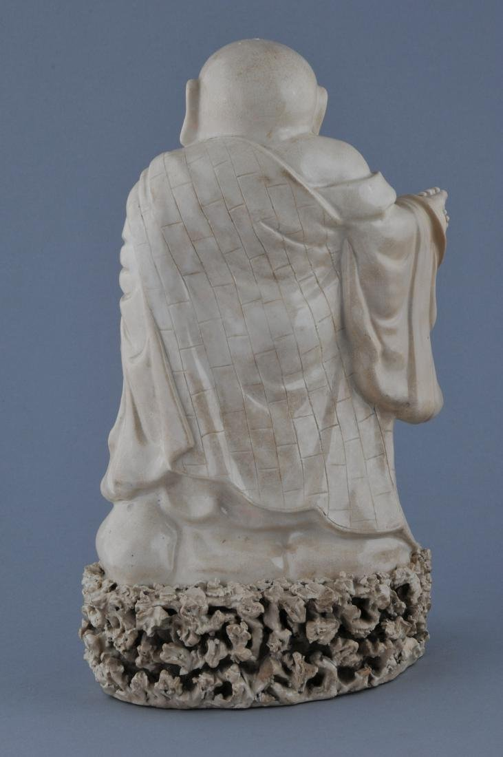 Two pottery figures. China. 19th century. Ivory white - 7