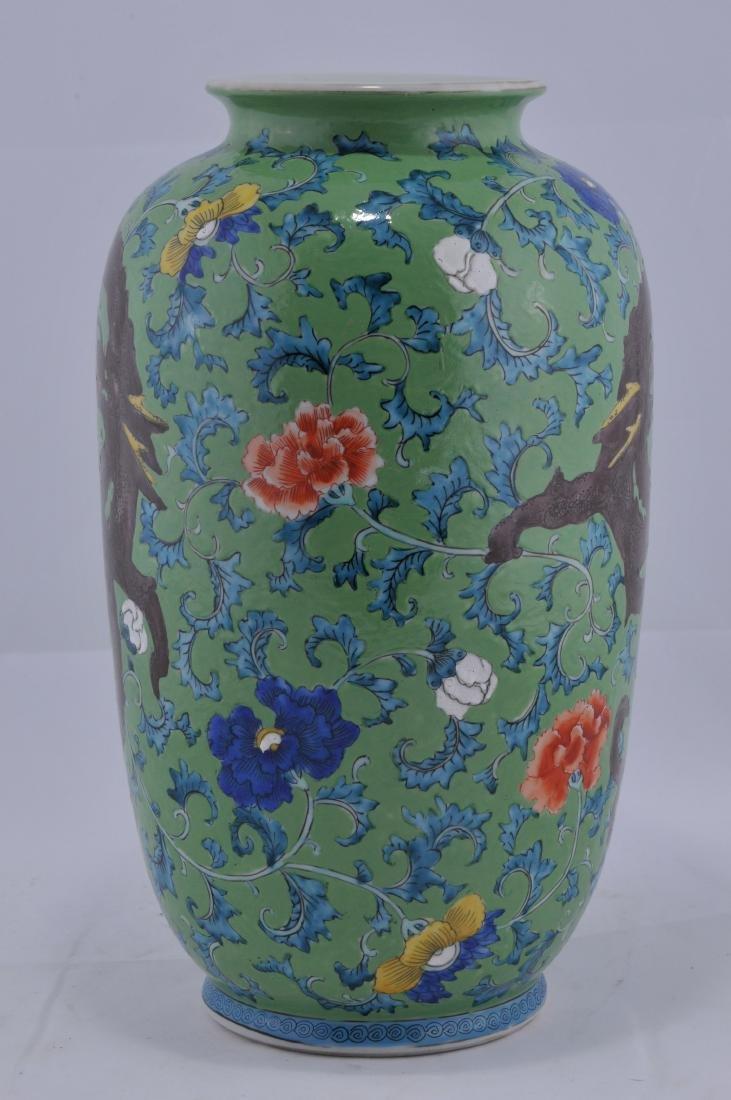 Porcelain vase. Japan. Late 19th century. Decoration of - 2
