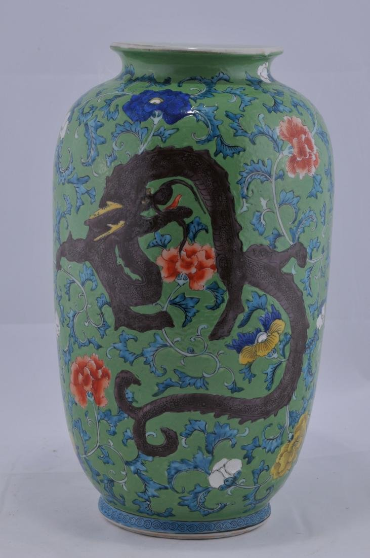 Porcelain vase. Japan. Late 19th century. Decoration of - 3