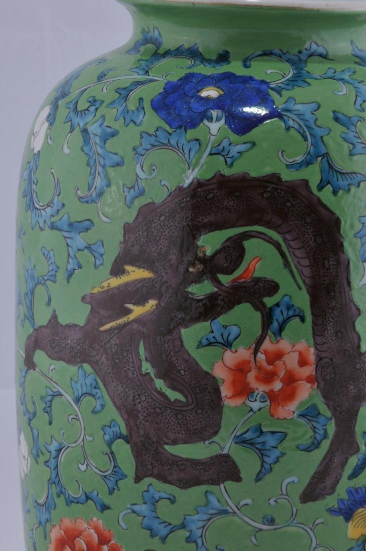 Porcelain vase. Japan. Late 19th century. Decoration of - 4