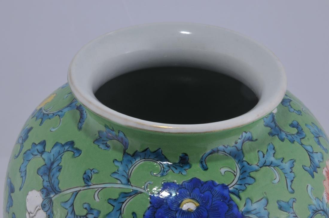 Porcelain vase. Japan. Late 19th century. Decoration of - 6
