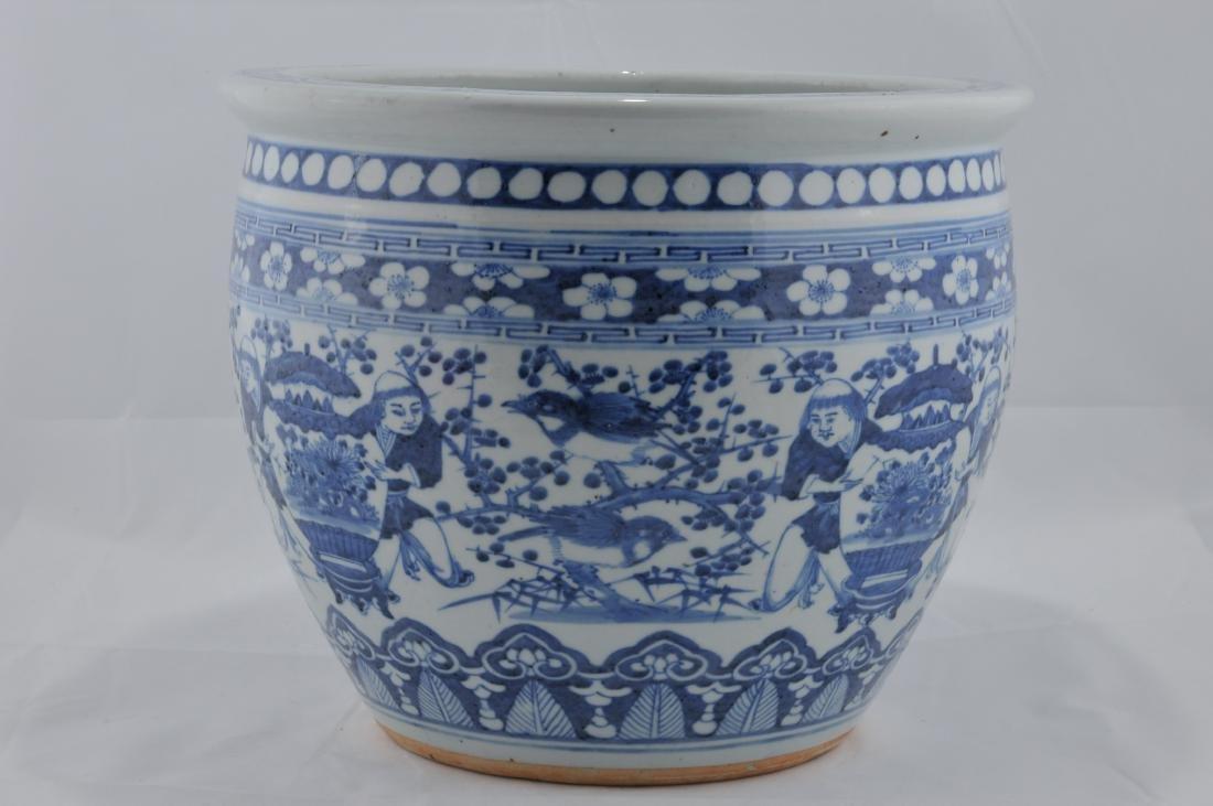 Porcelain Fish Bowl. China. 19th century. Underglaze - 3