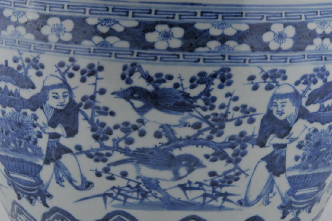Porcelain Fish Bowl. China. 19th century. Underglaze - 4