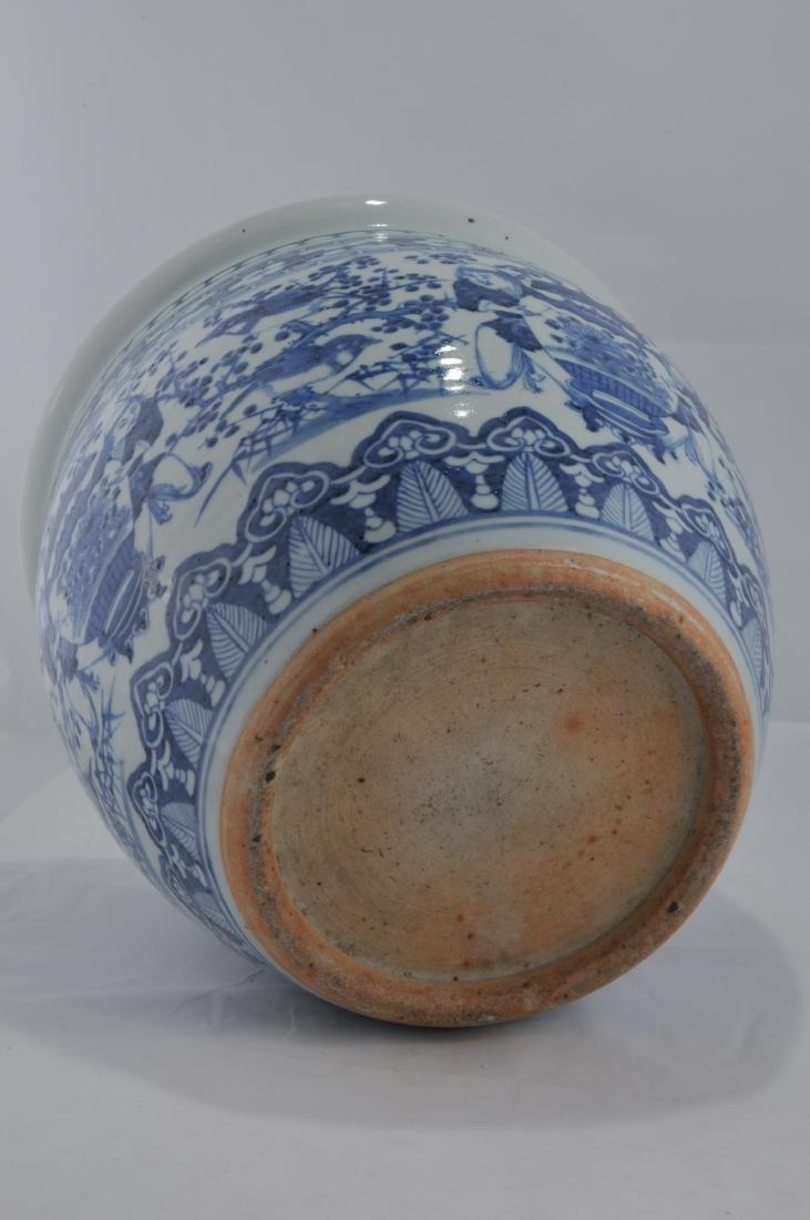 Porcelain Fish Bowl. China. 19th century. Underglaze - 6