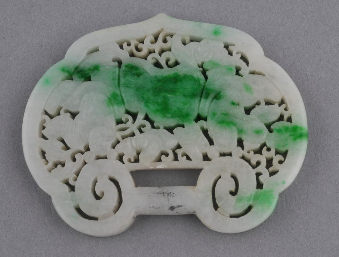 Jade pendant. China. 19th century. White Jade with