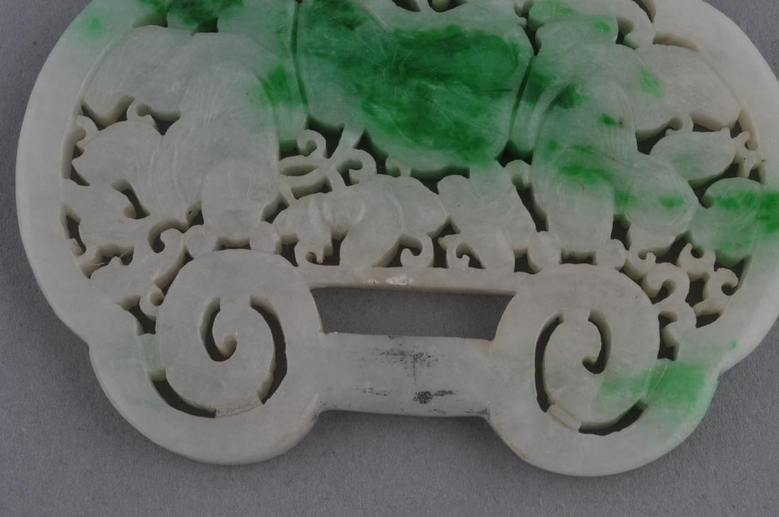 Jade pendant. China. 19th century. White Jade with - 4