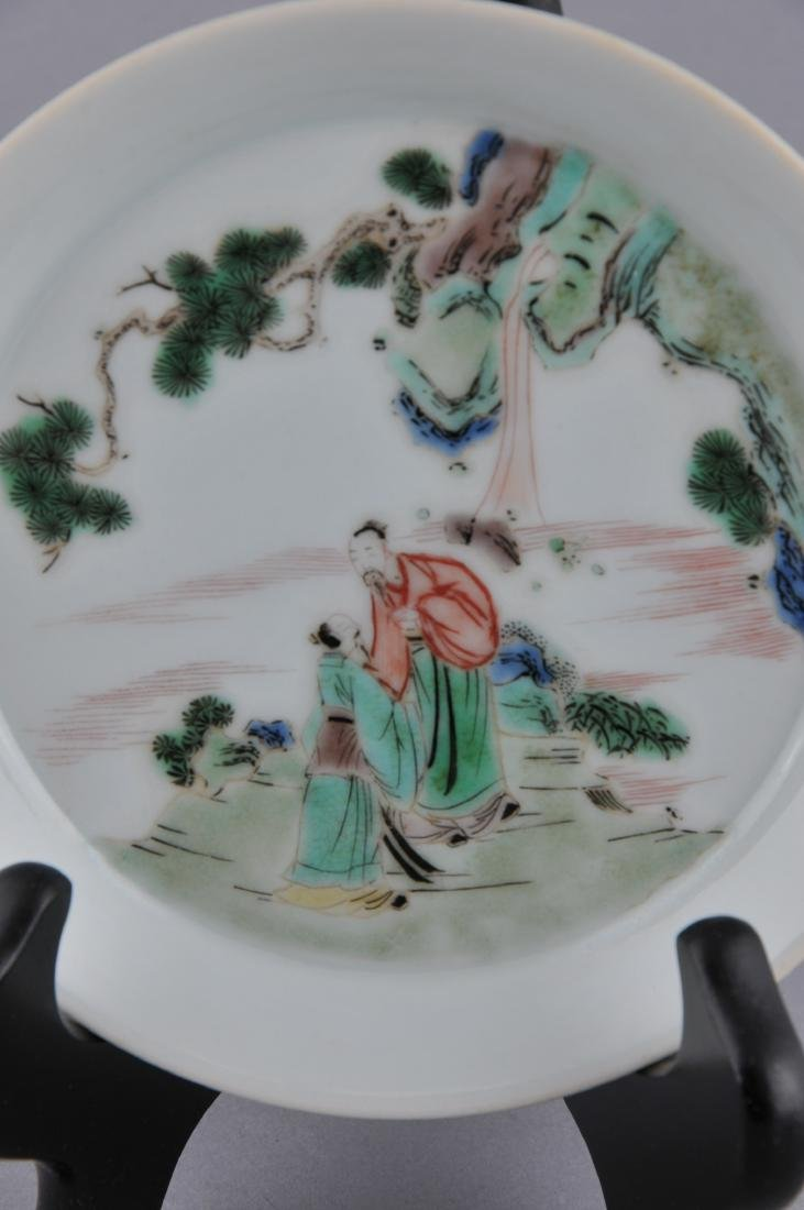 Porcelain saucer dish. China. 20th century. Famille - 2