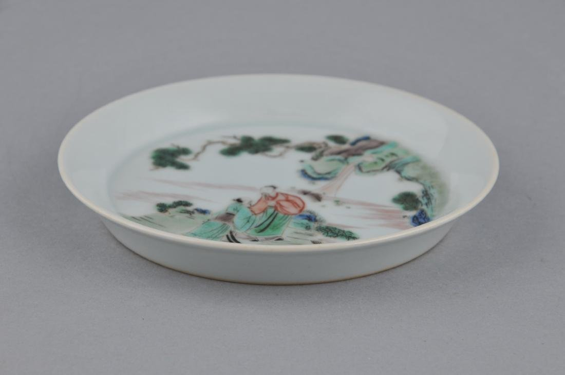 Porcelain saucer dish. China. 20th century. Famille - 5