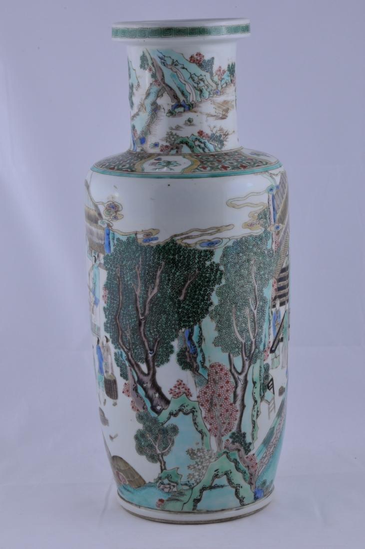 Porcelain vase. China. 19th century. Roleau form. - 2