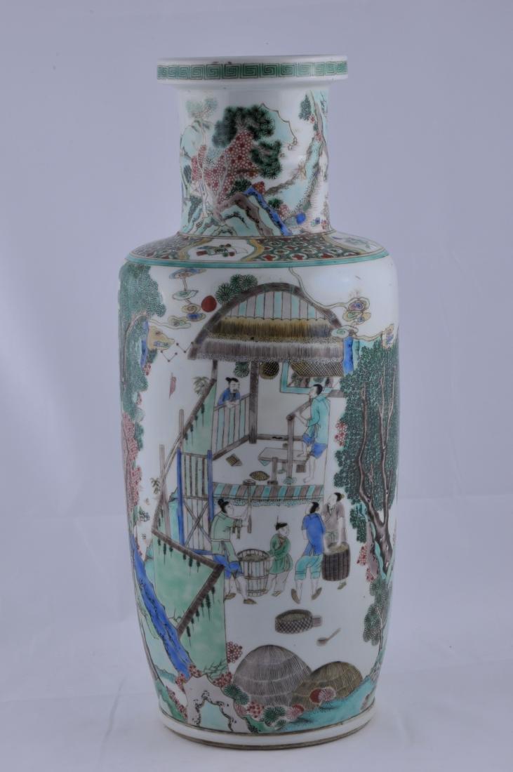 Porcelain vase. China. 19th century. Roleau form. - 5