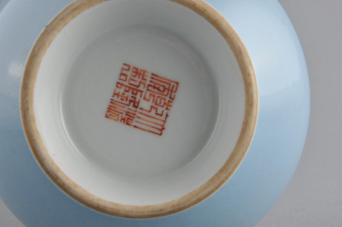Porcelain vase. China. 19th century. Garlic mouth type. - 7