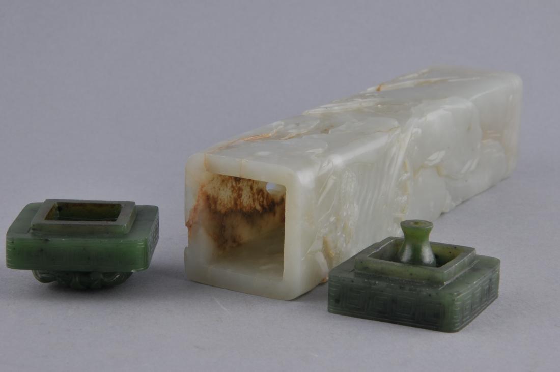 Jade censer. China. 18th  century. Stone of pale - 9