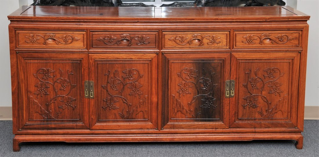 Rosewood Cabinet. China. 20th century. Four drawers