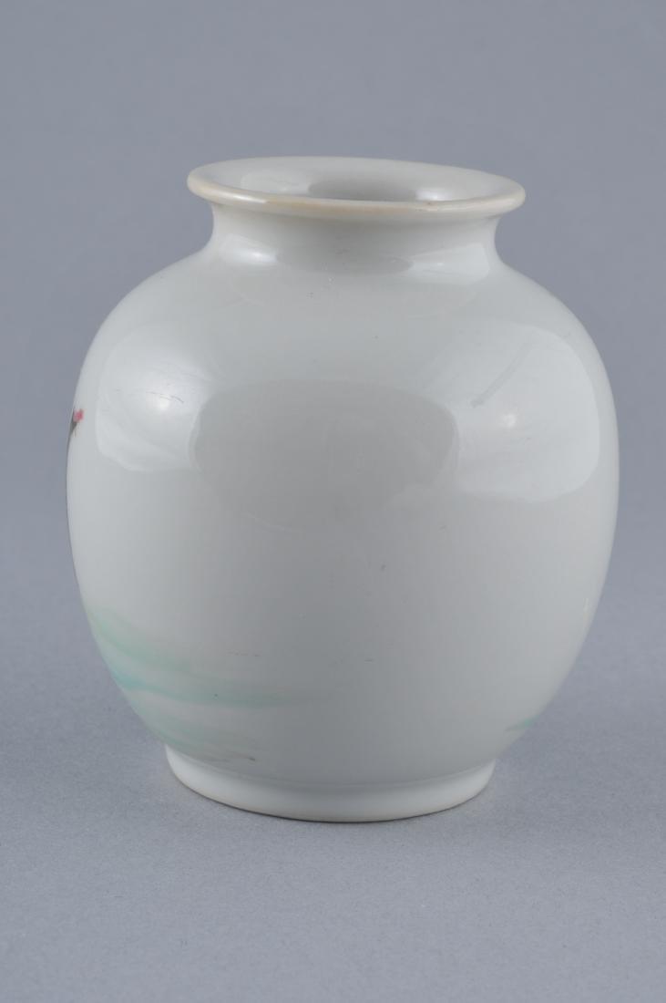 Porcelain vase. China. Early 20th century. Oviform. - 2