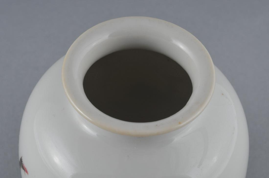 Porcelain vase. China. Early 20th century. Oviform. - 3