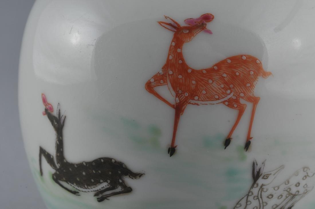 Porcelain vase. China. Early 20th century. Oviform. - 4