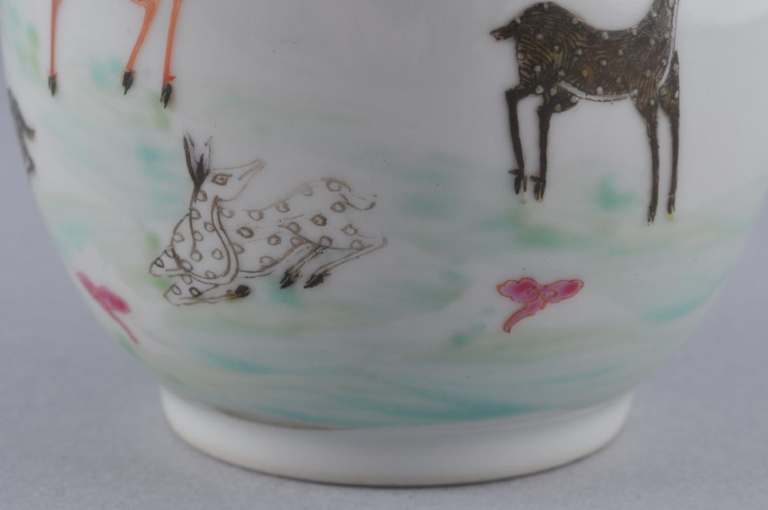 Porcelain vase. China. Early 20th century. Oviform. - 5