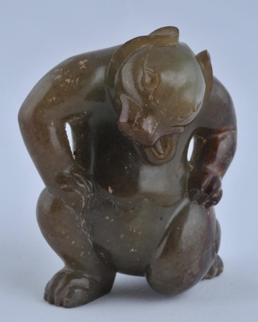 Jade dancing bear. China. Probably Han period. Green