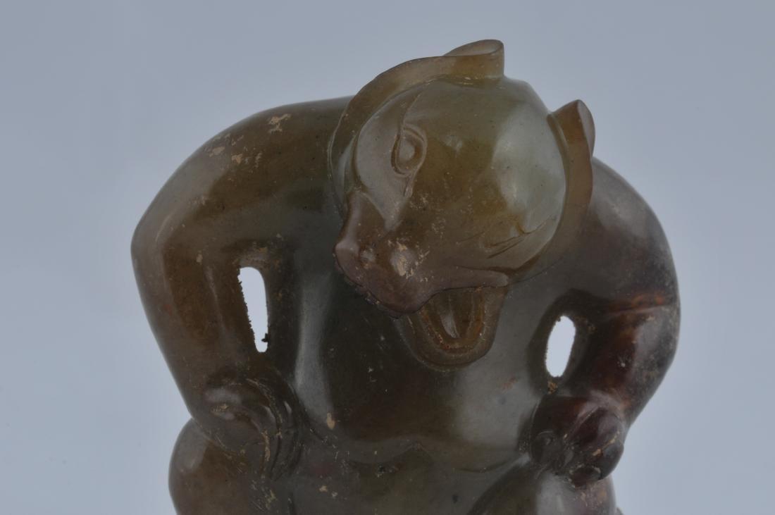 Jade dancing bear. China. Probably Han period. Green - 2