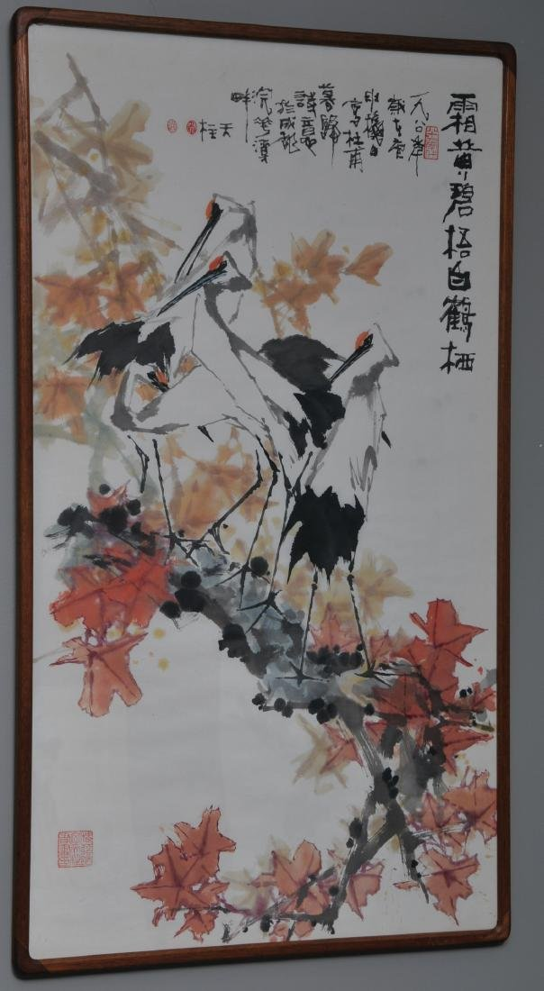 Scroll painting. China. Dated 1984. Ink and colours on