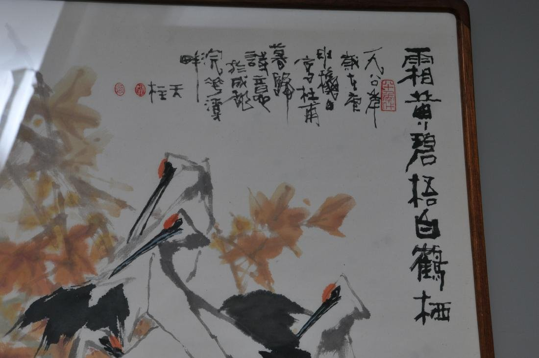 Scroll painting. China. Dated 1984. Ink and colours on - 3