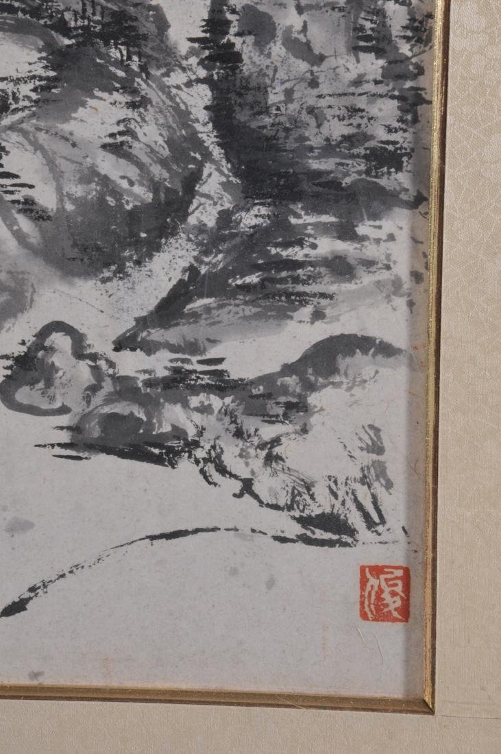 Scroll painting. China. 20th century. Ink on paper. - 6