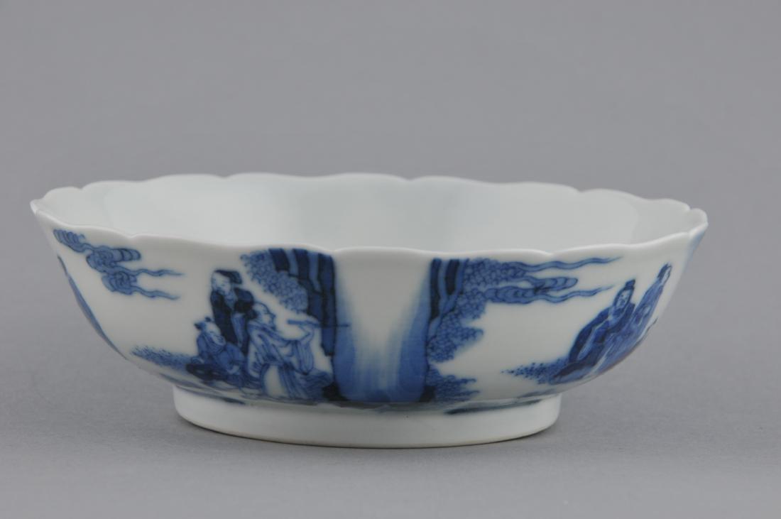 Porcelain saucer dish. China. 19th century. Scalloped - 2