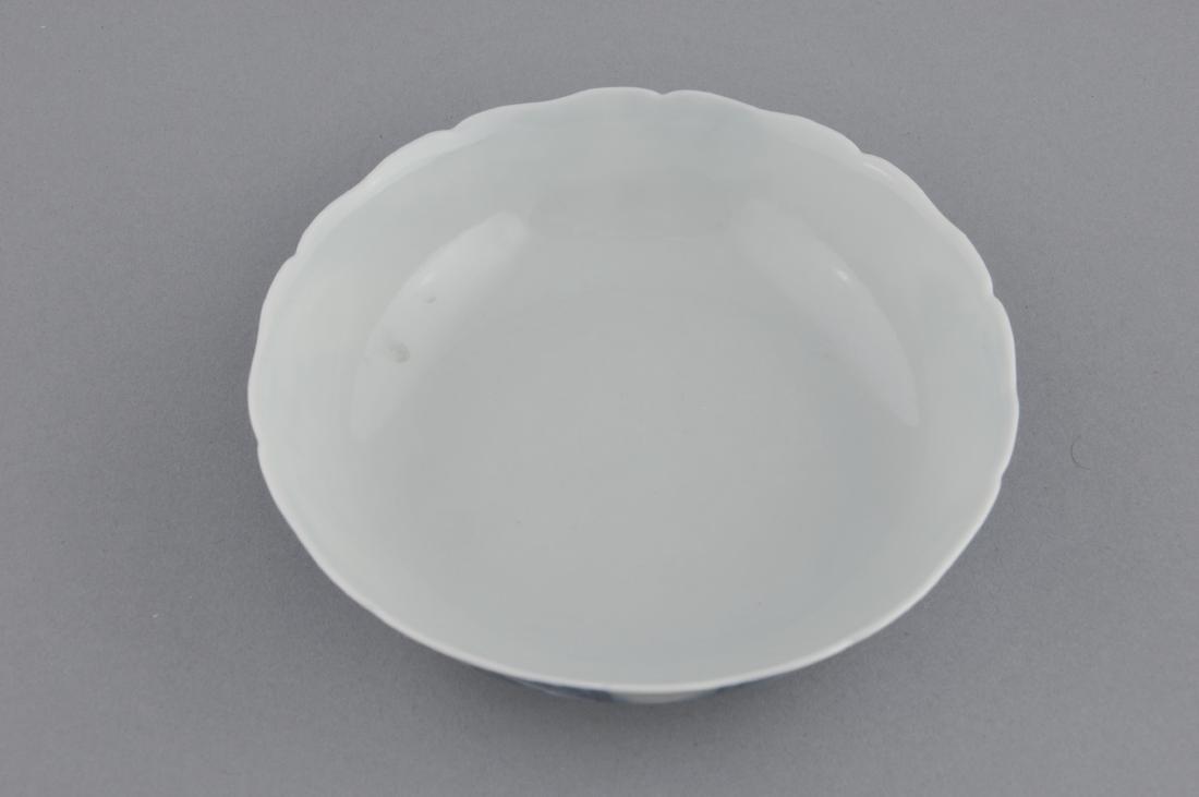 Porcelain saucer dish. China. 19th century. Scalloped - 3
