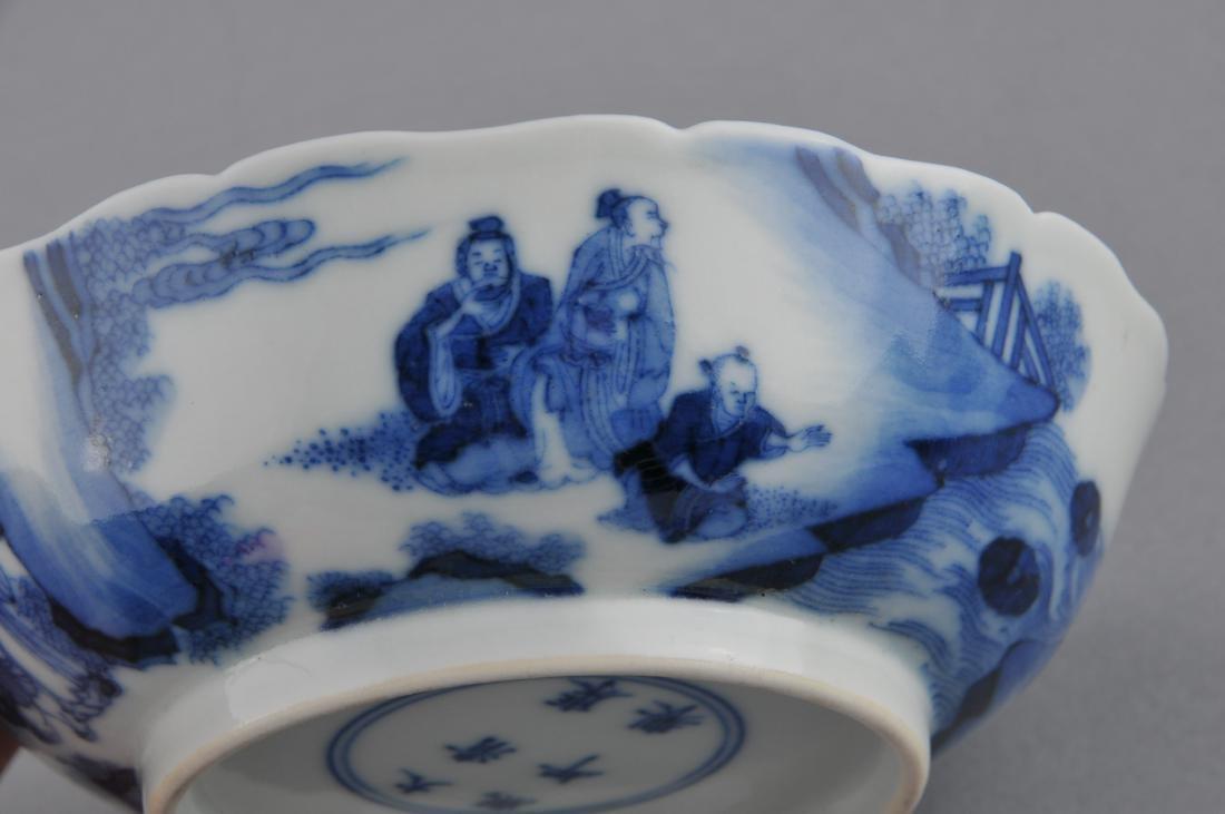 Porcelain saucer dish. China. 19th century. Scalloped - 6
