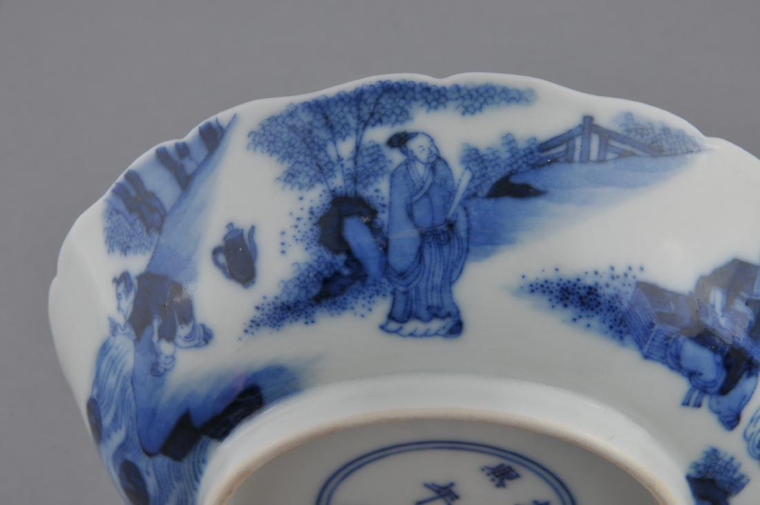 Porcelain saucer dish. China. 19th century. Scalloped - 7
