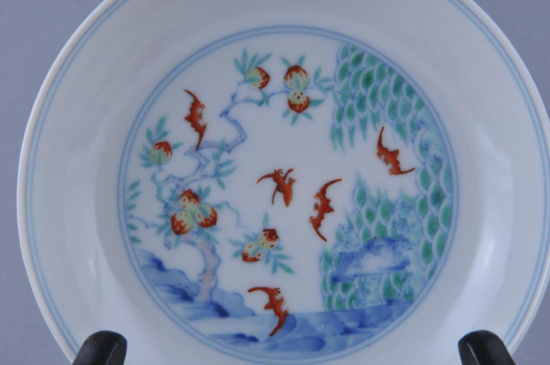 Porcelain saucer dish. China. Early 20th century. Tou - 2