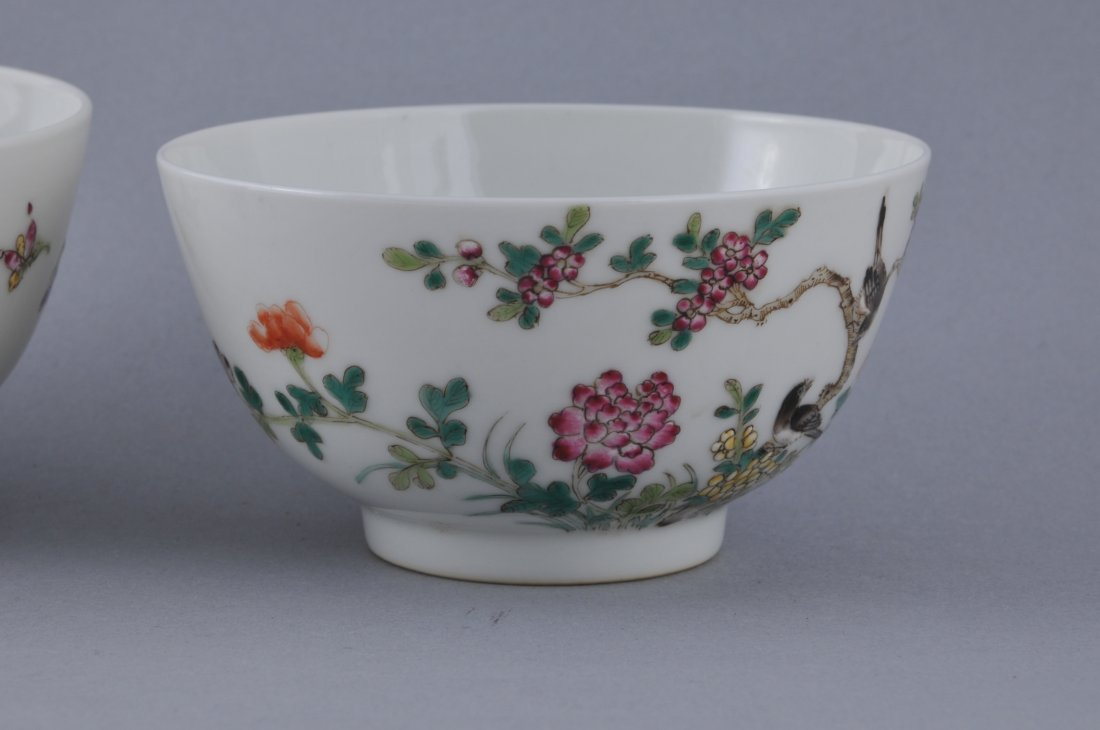 Pair of porcelain bowls. China. Hsien Feng mark - 2