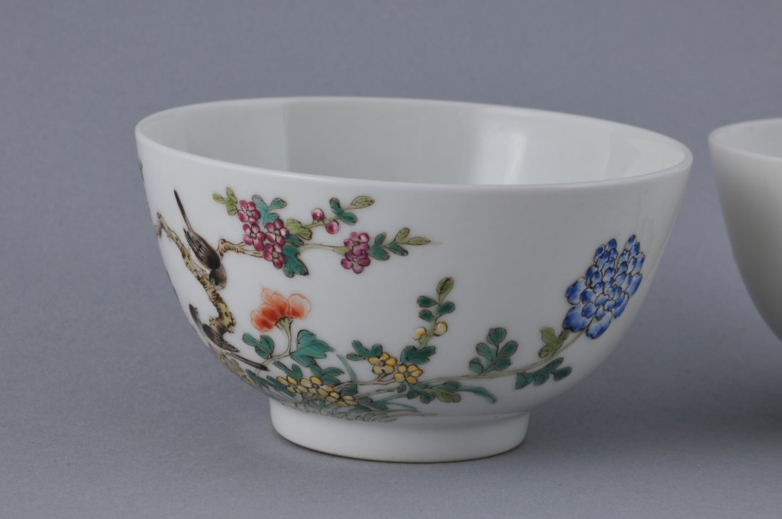 Pair of porcelain bowls. China. Hsien Feng mark - 3