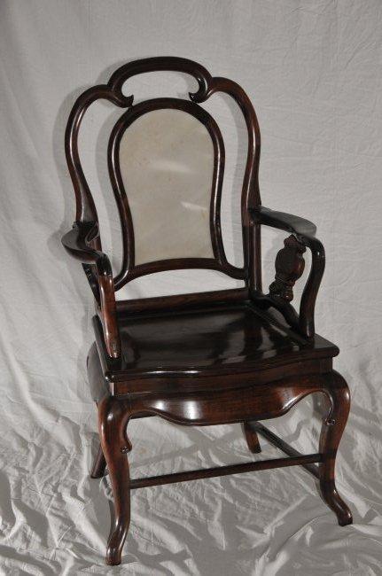 Pair of Arm chairs. China. 19th century. Hung Mu. - 2