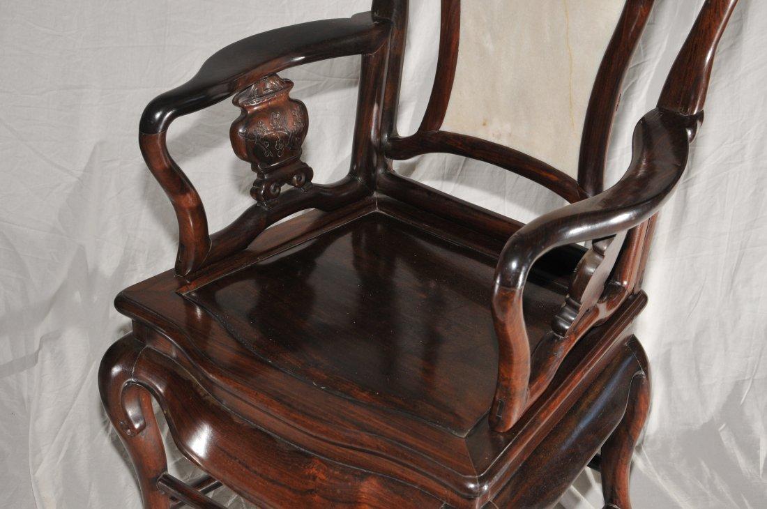 Pair of Arm chairs. China. 19th century. Hung Mu. - 4