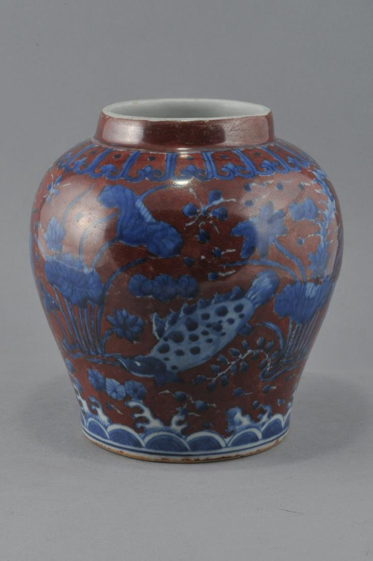 Porcelain vase. China. 20th century. Underglaze blue - 2