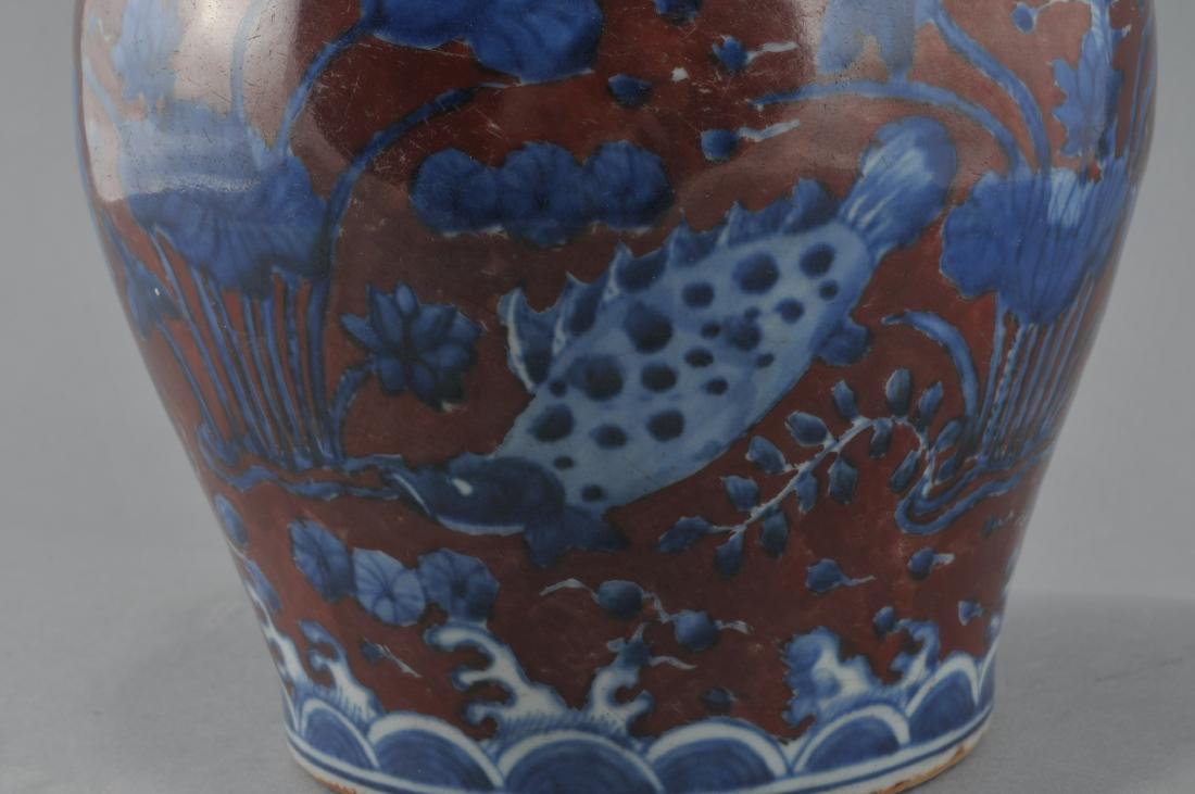 Porcelain vase. China. 20th century. Underglaze blue - 4