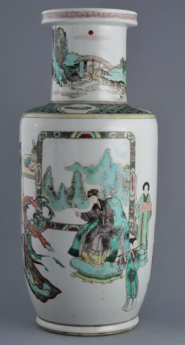 Porcelain vase. China. 19th century. Roleau form.