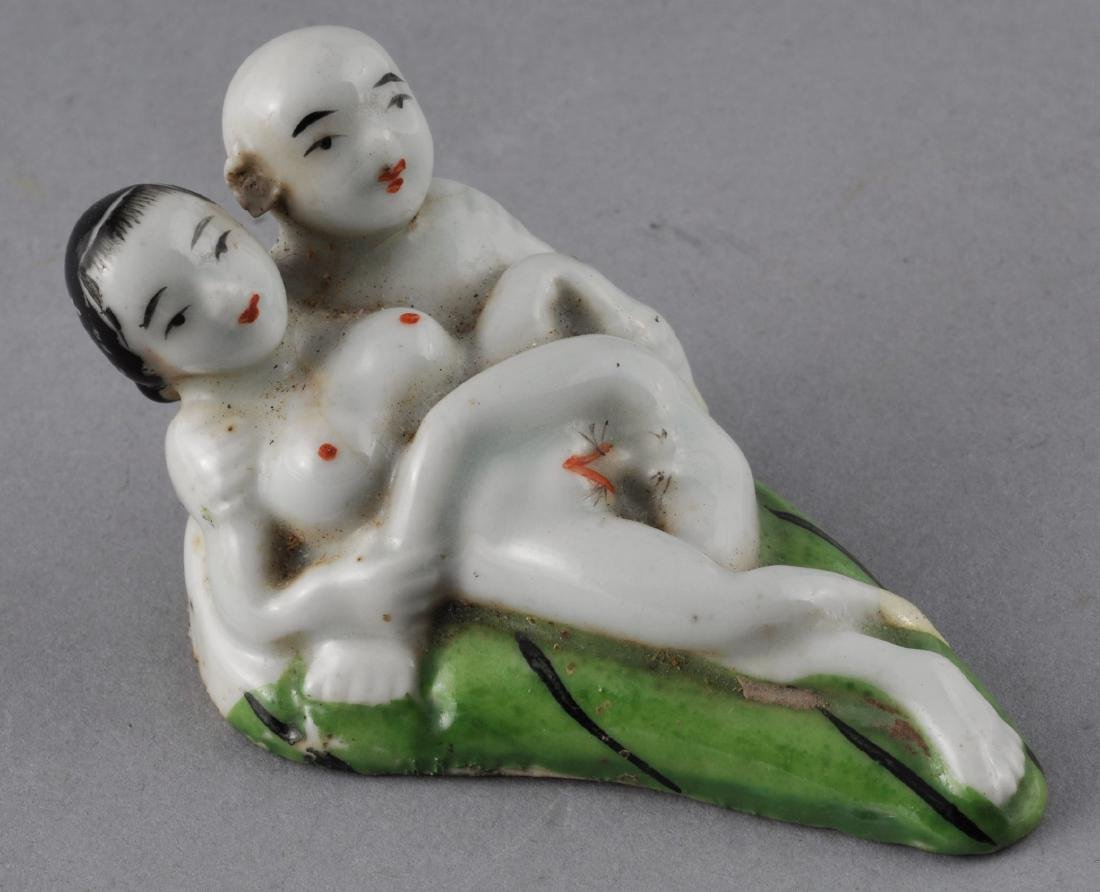 """Porcelain Erotic figure. China. Early 20th century. 3"""""""