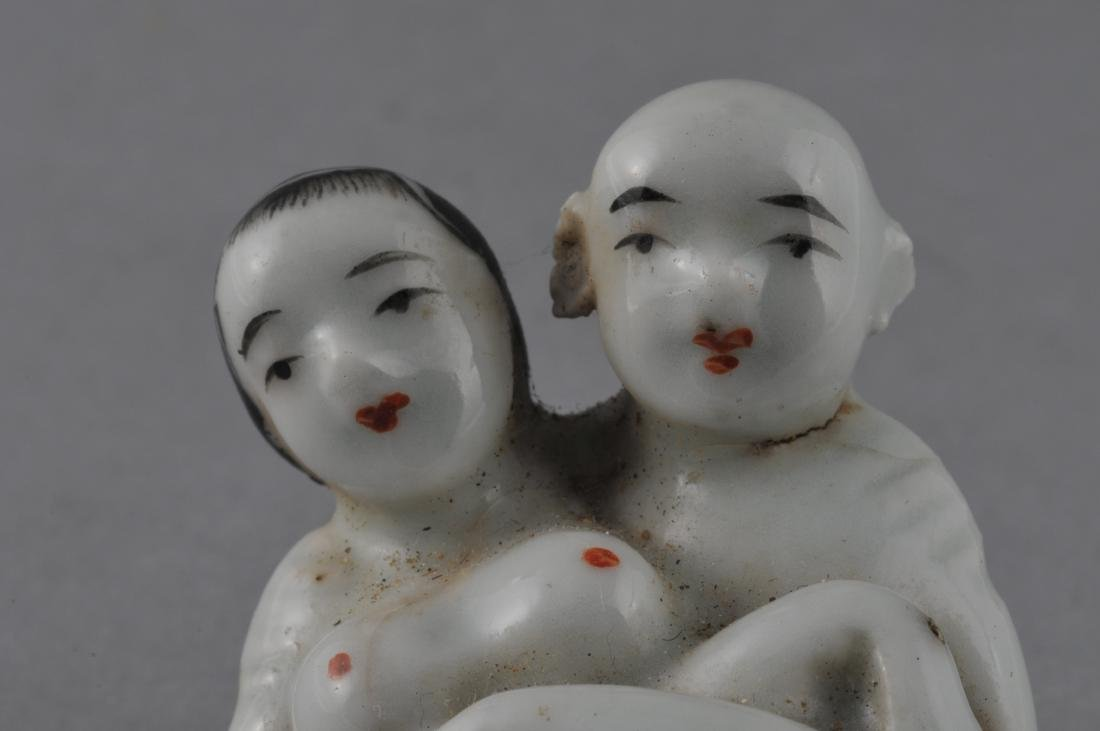 """Porcelain Erotic figure. China. Early 20th century. 3"""" - 5"""