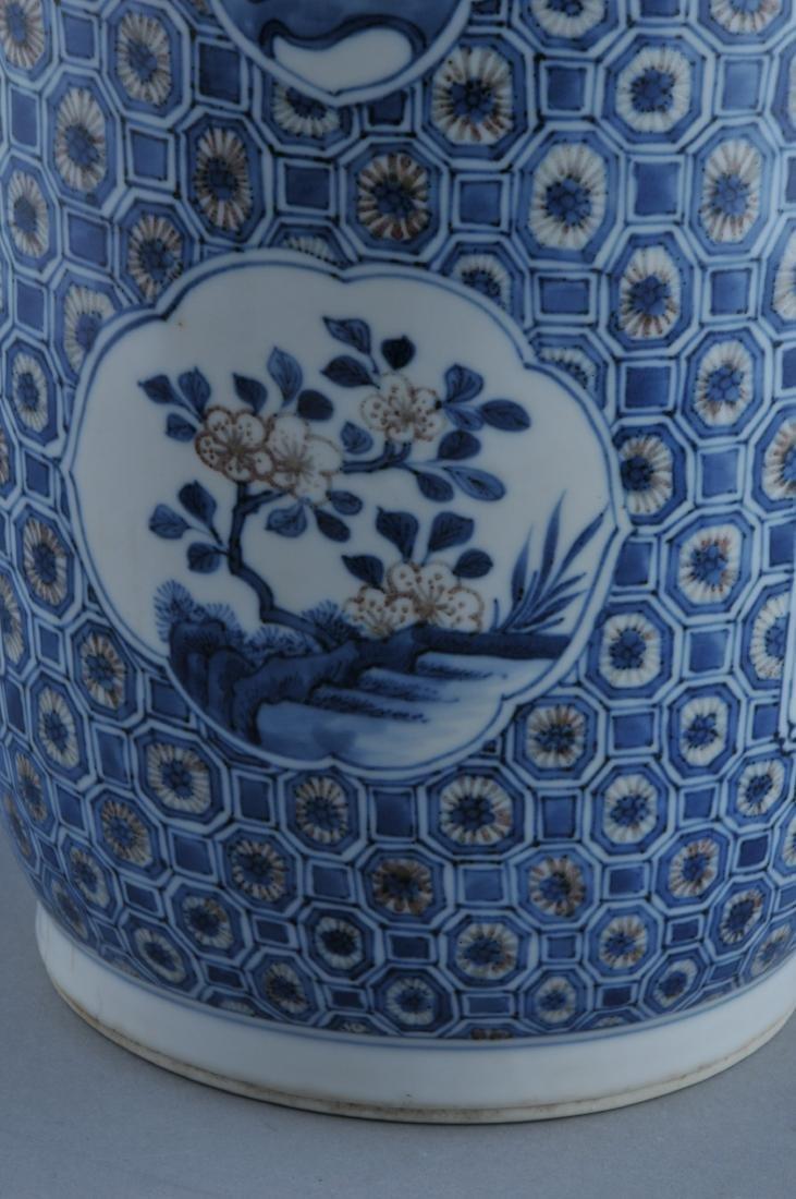 Porcelain vase. China. 19th century. Roleau form. - 6