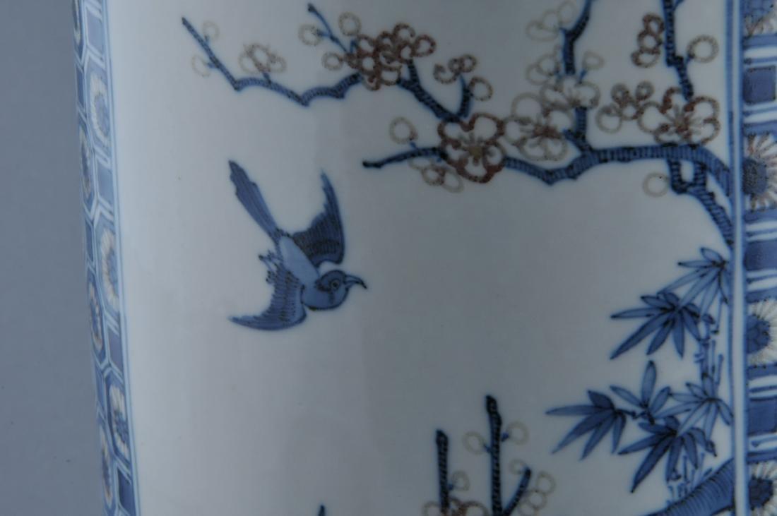 Porcelain vase. China. 19th century. Roleau form. - 7