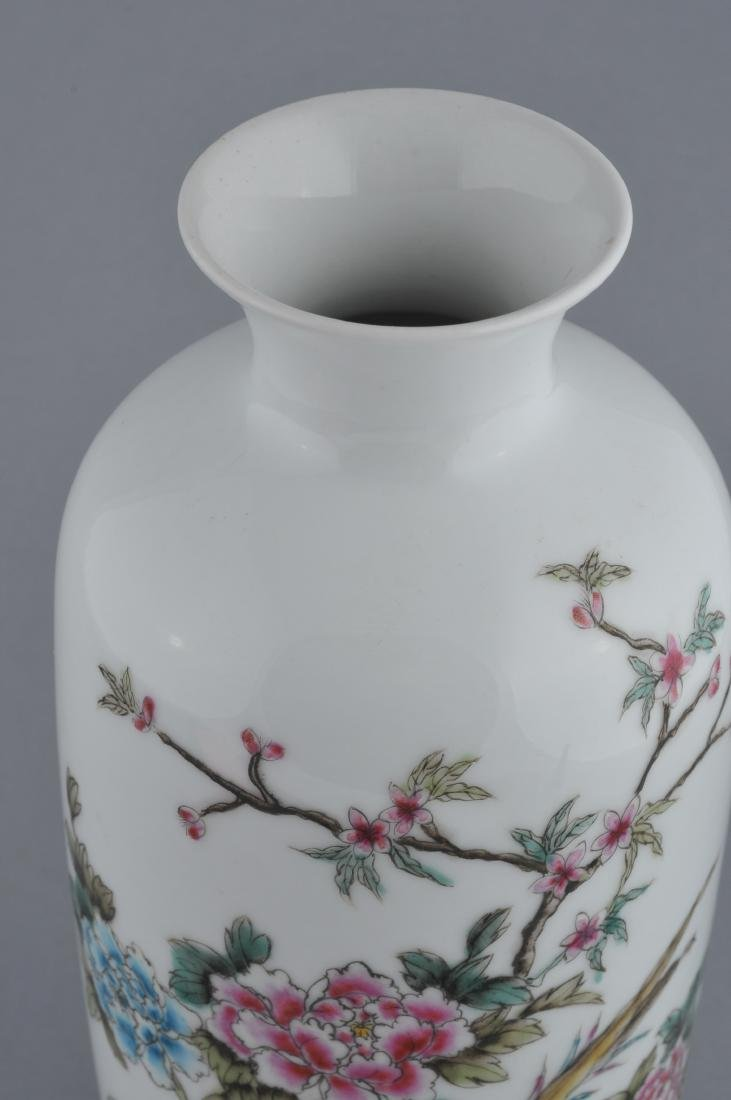 Porcelain vase. China. 20th century. Famille Rose - 3
