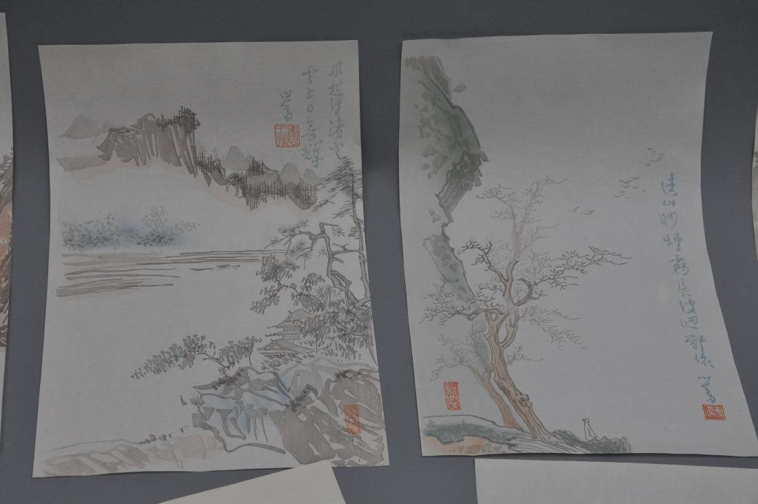 Lot of 18 Woodblock prints. China. 20th century. After - 2