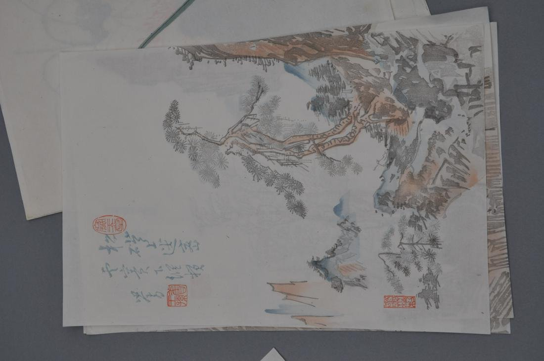 Lot of 18 Woodblock prints. China. 20th century. After - 5