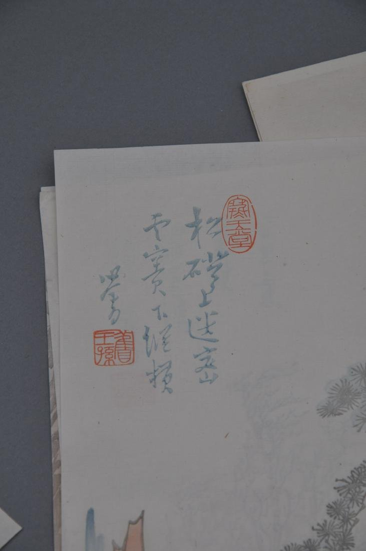 Lot of 18 Woodblock prints. China. 20th century. After - 6