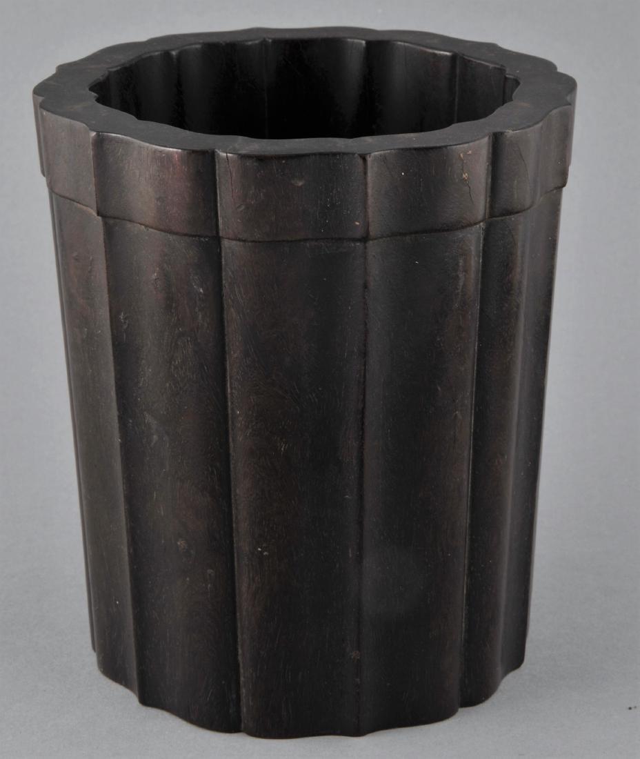 Tzu Tan brush pot. China. 18th/19th century. Fluted