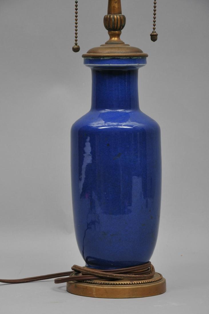 Porcelain vase. China. 19th century. Roleau form. Blue - 2