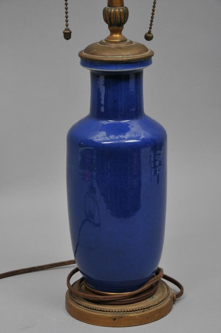 Porcelain vase. China. 19th century. Roleau form. Blue - 5